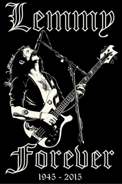 Lemmy forever 1945-2015 poster