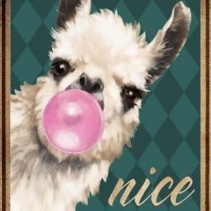 Llama Alpaca Nice butt Poster