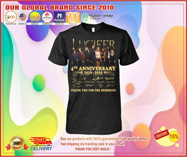Lucifer 4th anniversary 2016-2020 thank you for the memories shirt