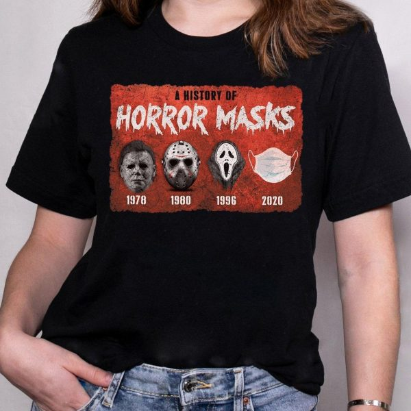Michael Myer Jackson Vooheers A history of horror masks shirtMichael Myer Jackson Vooheers A history of horror masks shirt