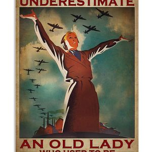 Poster Never underestimate an old lady who used to be a flight attentdant
