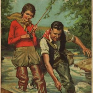 Poster Fishing couple and they lived happily ever after
