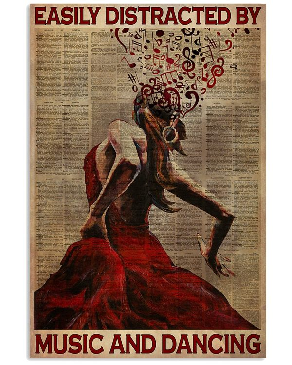 Poster Flamenco Easily distracted by music and and dancing