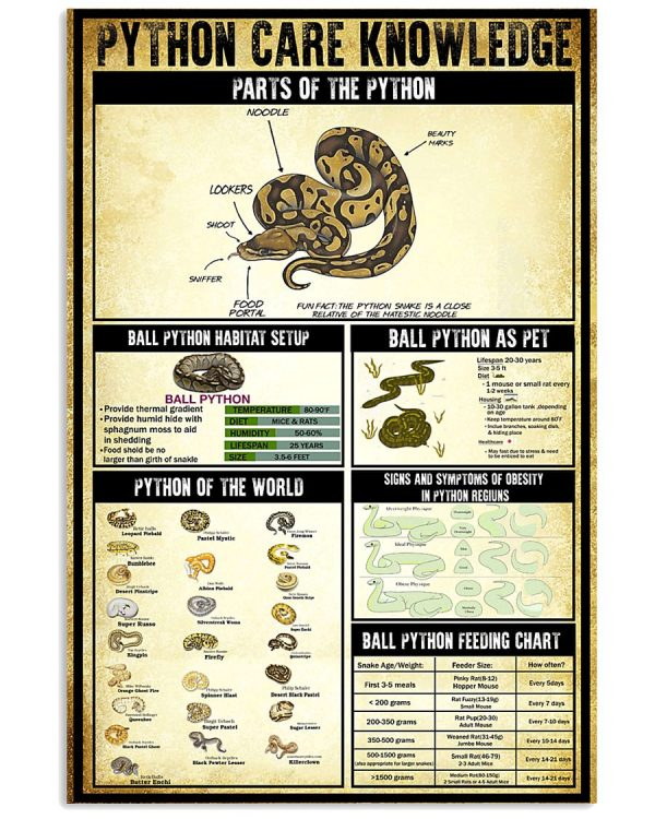 Python Care Knowledge poster