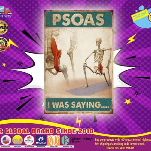 Skeletion Psoas I was saying poster