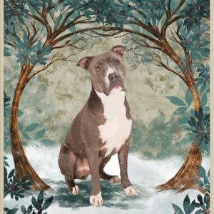 Staffordshire Terrier Once upon a time there was a girl who really loved dog poster