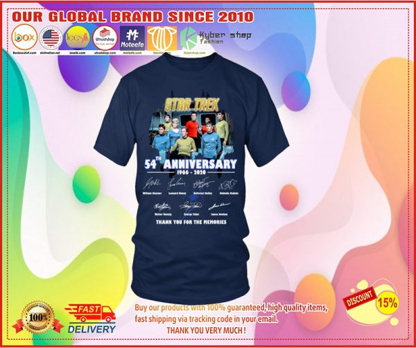 Star trek th anniversary   thank you for the memories shirt