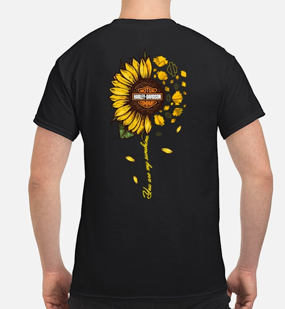 Sunflower Harley Davidson shirt