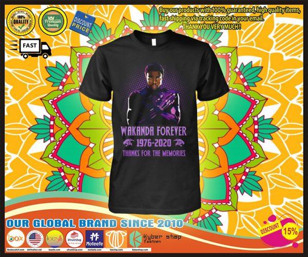 Wakanda forever 1976-2020 thank for the memories shirt