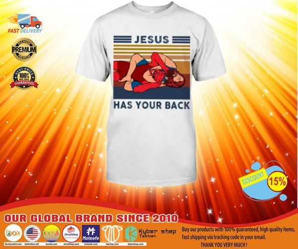 Wrestling Jesus has your back shirt, hoodie