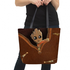 Baby Groot all over print tote bag