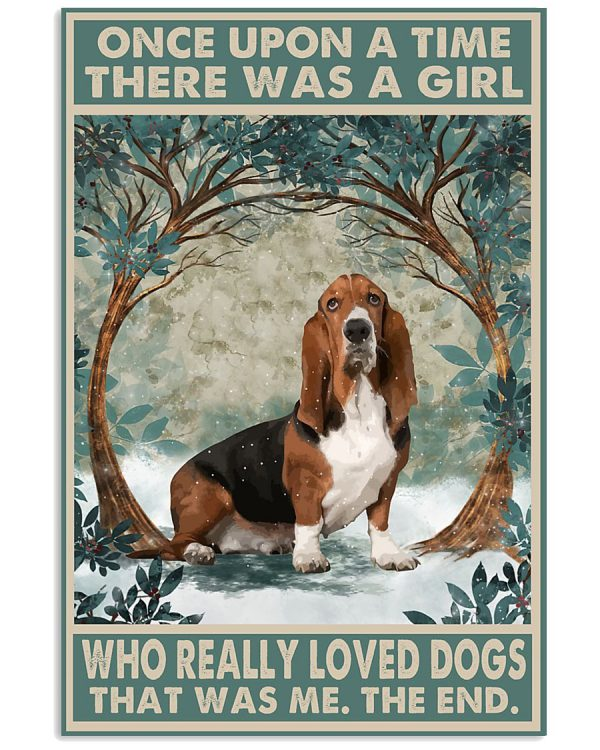 Basset Hound and she lived happily ever after poster