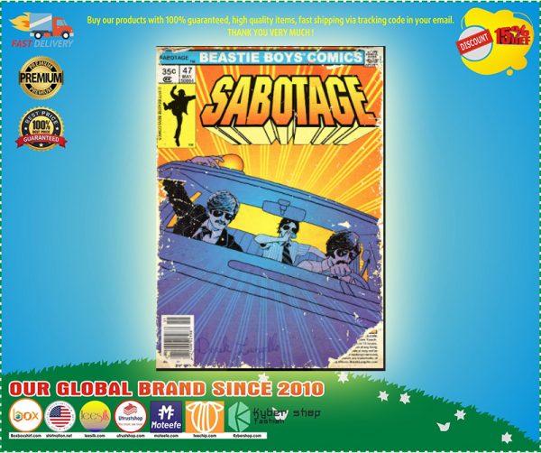 Beastie boys comics sabotage poster