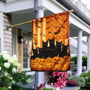 Black Cats Halloween Flag