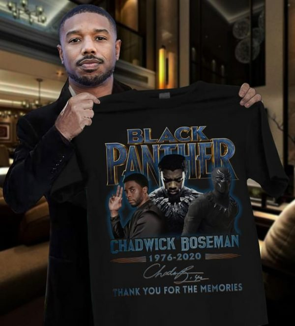 Black panther chadwich boseman 1976-2020 Thank you for the memories shirt