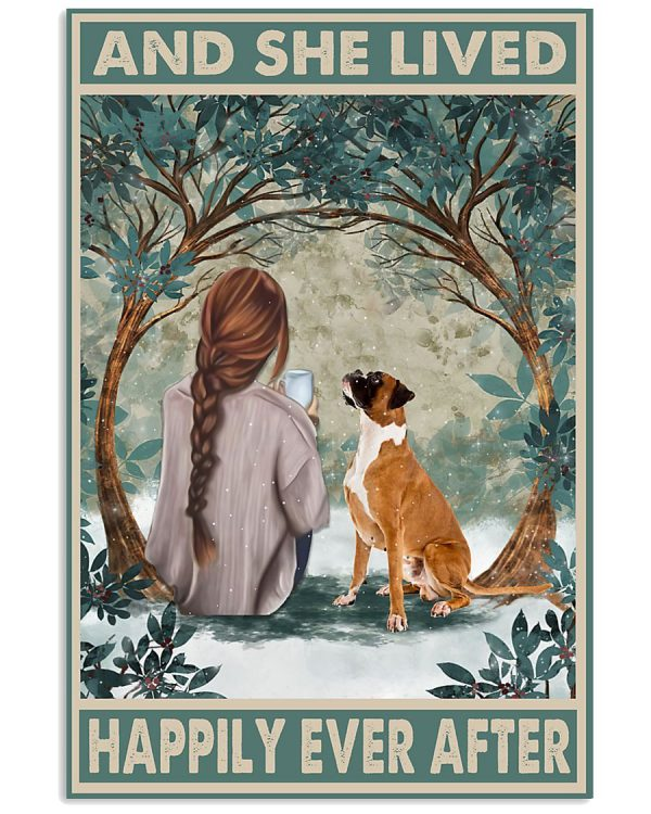Boxer and she lived happily ever after poster