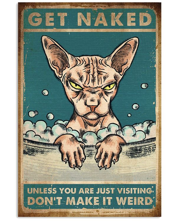 Cat get naked unless you are just vistiting don't make it weird poster