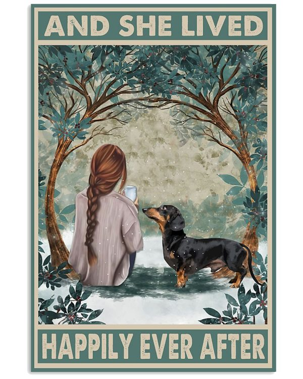 Dachshund and she live happily ever after poster