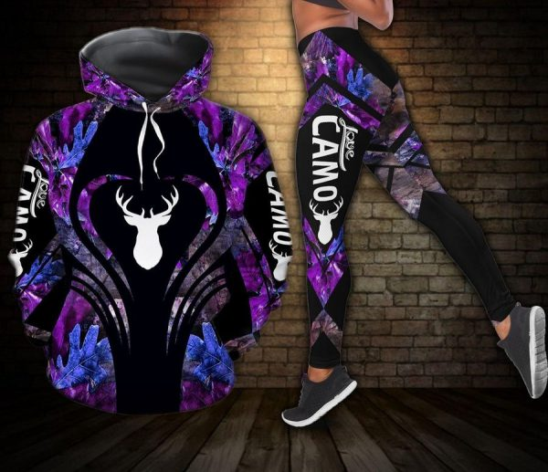 Deer Hunting Camo Combo 3d hoodie and legging