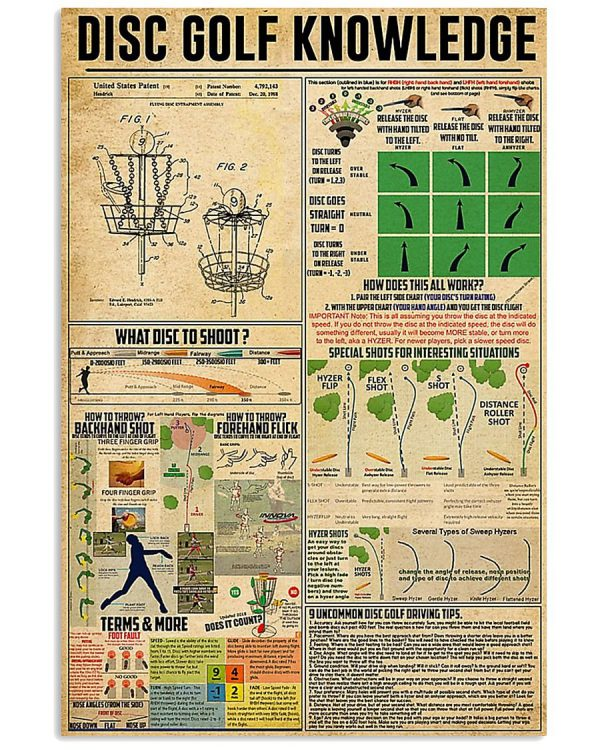 Disc Golf Knowledge poster
