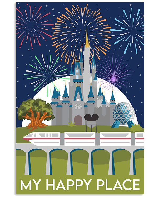 Disney Castle My happy place poster