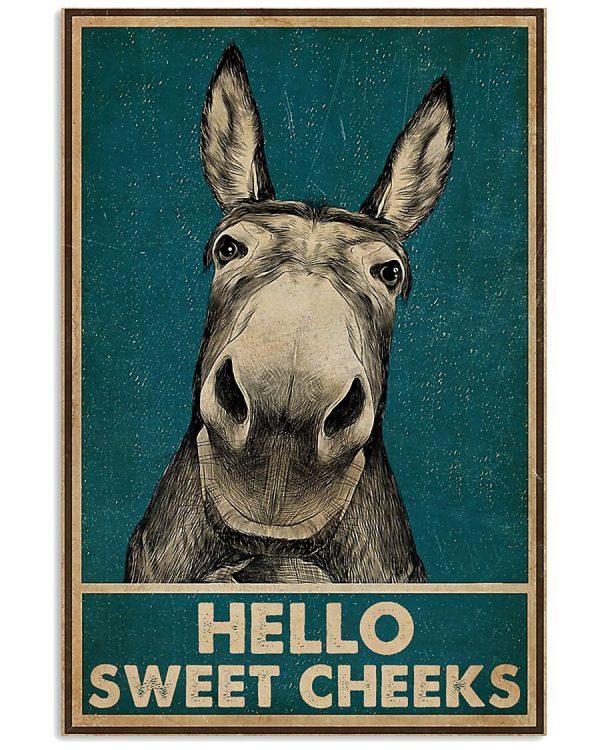 Donkey Hello Sweet Cheeks Poster