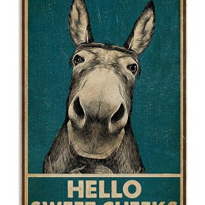 Donkey Hello sweet cheek poster