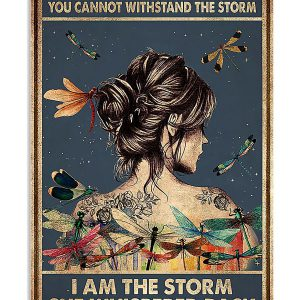 Dragonfly They whispered to her you cannot withstand the storm I am the storm she whispered back poster