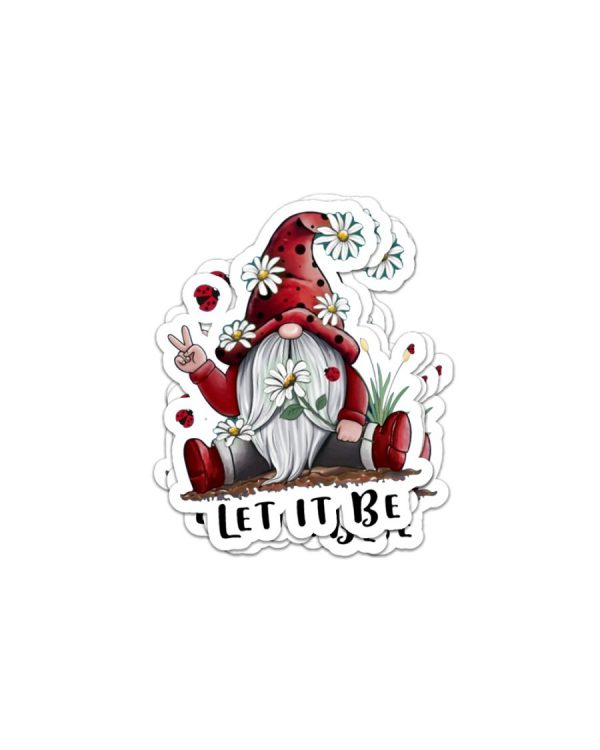 Gnomes let it be sticker