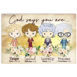 Golden girl God says you are poster