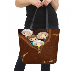 Golden girls all over print tote bag