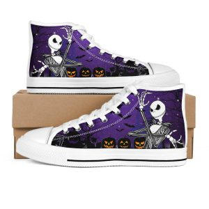 Halloween Jack skellington high top shoes