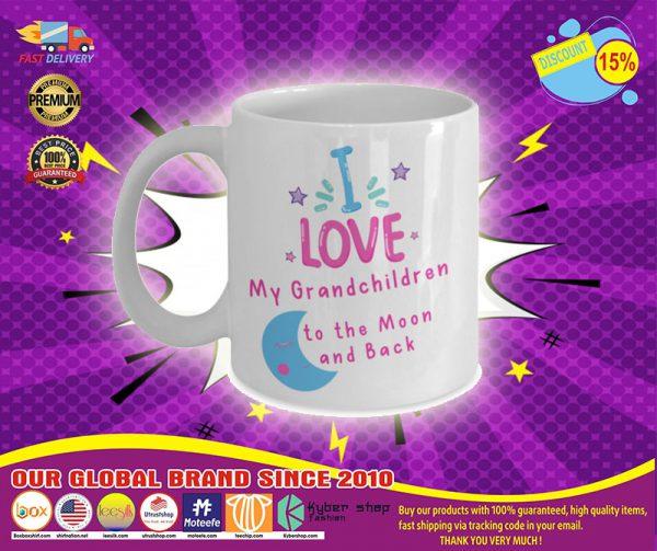 I love my grandchildren to the moon and back mug