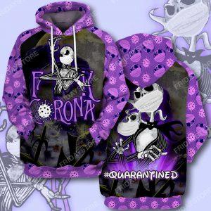 Jack Skeleton FCK corona hoodie