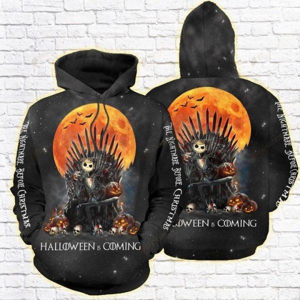 Jack skellington The nightmare before christmas Halloween is coming 3D full print hoodie