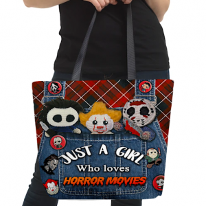 Just a girl who loves Horror movies tote bag