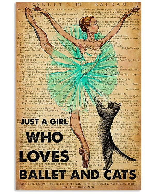 Just a girl who loves ballet and cats poster
