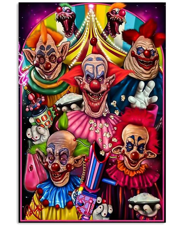 Killer klowns from outer space poster Poster