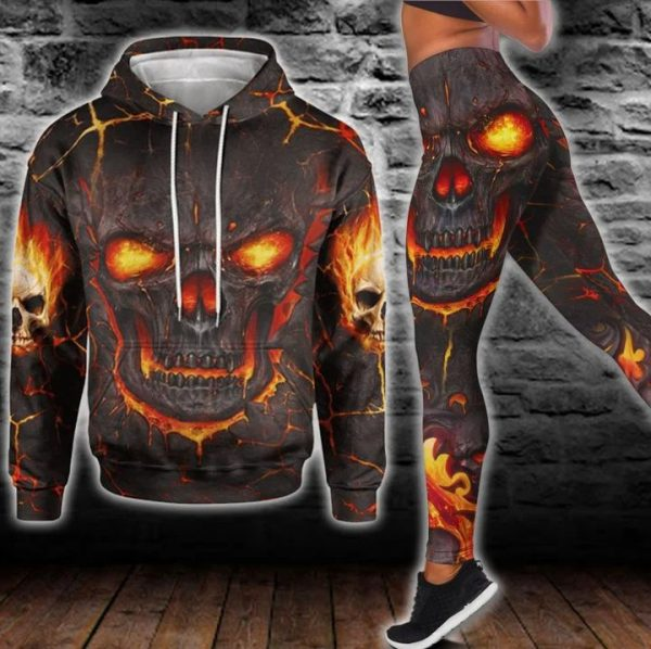 Lava skull hoodie and legging