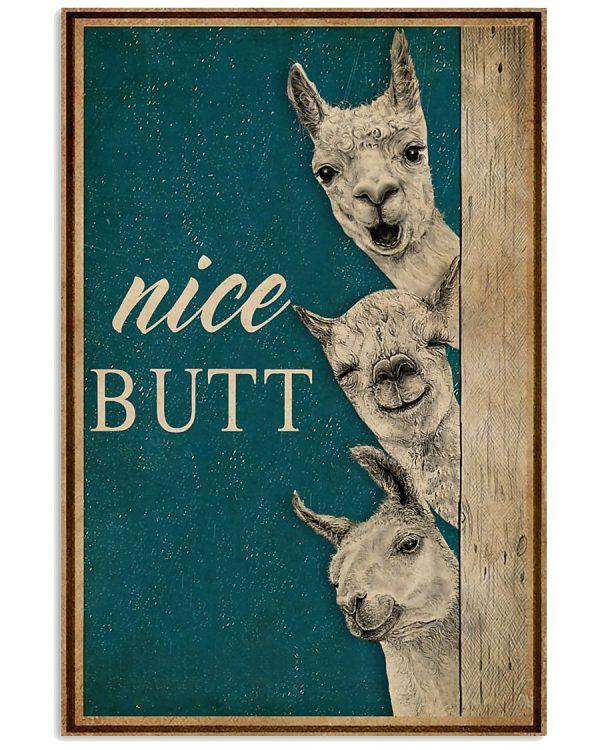 Llama nice butt poster
