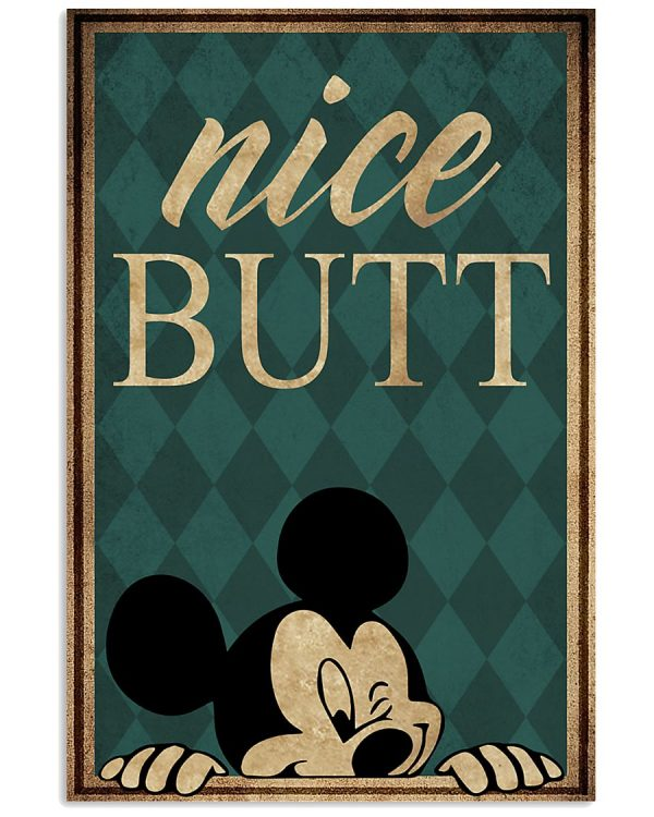 Mickey mouse nice butt poster