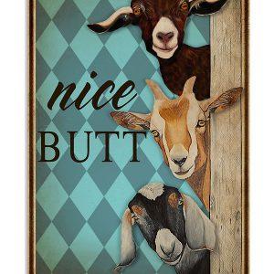 Nice Butt Goat Mint poster