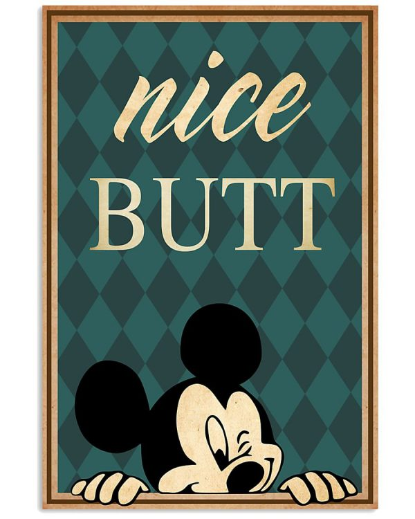 Nice butt mickey mouse poster