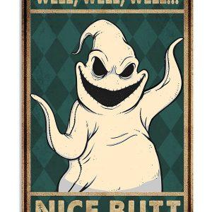 Oogie boogie nice butt poster, canvas
