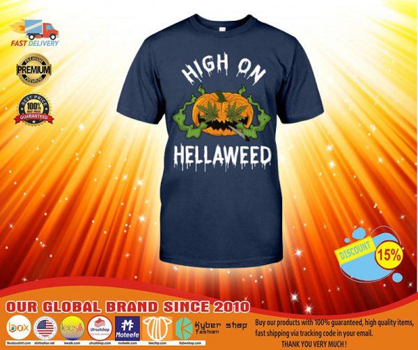 Pumpkin weed High on hellaweed shirt, hoodie