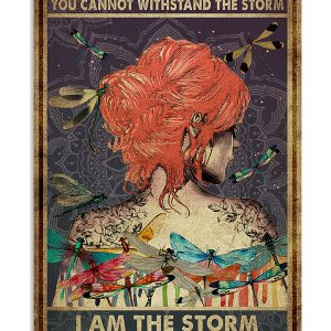 Red hair to her I am the storm she whispered back poster