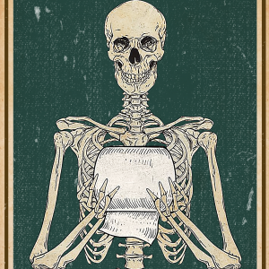 Skeleton your butt napkins my lord poster