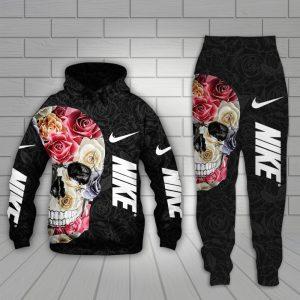 Skull Nike 3d hoodie and long pant