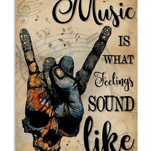 Skull rock music is what feelings sound like poster