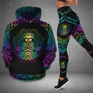 Slot pattern hoodie and legging